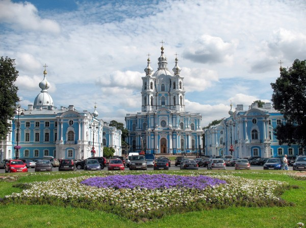 Smolny Cathedral in St Petersburg