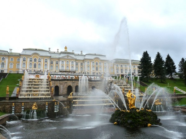 The fountains in Peterhof