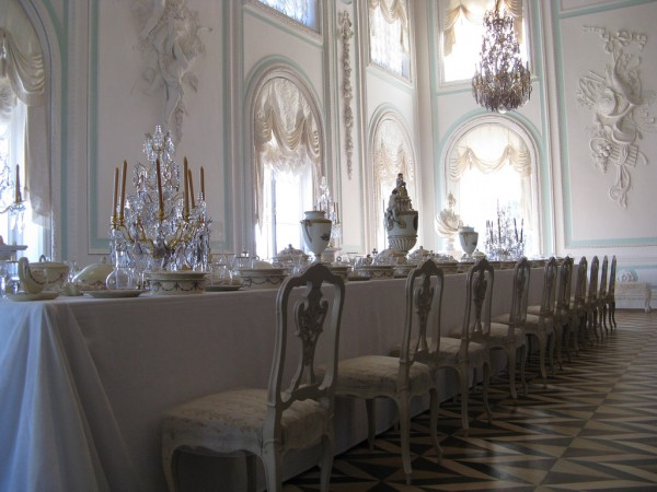 White Dining Room in the Grand Palace, Peterhof