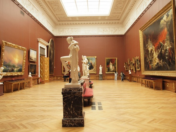 Statues and paintings in the Russian State Museum