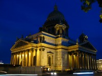 The entrances of Saint Isaac's Cathedral