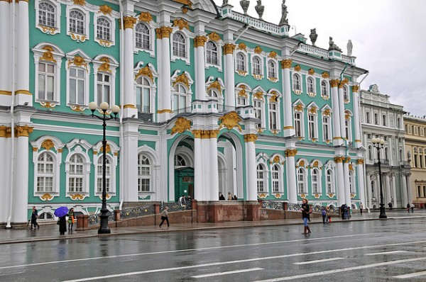 The Hermitage in the Winter Palace in Sankt Petersburg