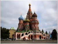 The spectacular Cathedral of Saint Basil in Moscow