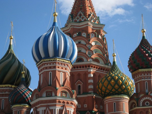 The domes of the Cathedral of Saint Basil