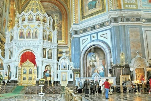 The interior of the Cathedral of Christ the Savior