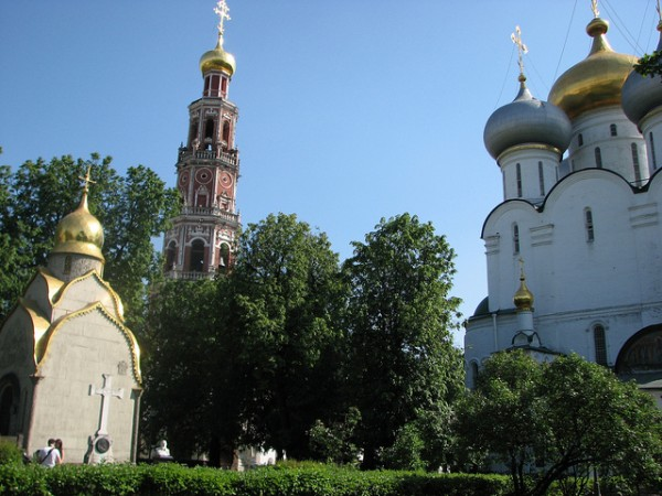 Inside the Novodevichy Monastery