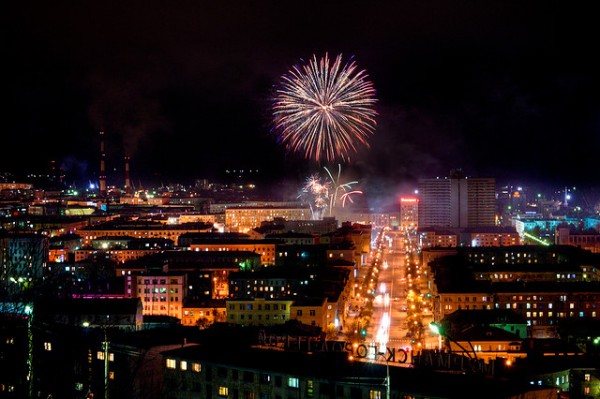 Fireworks in Murmansk