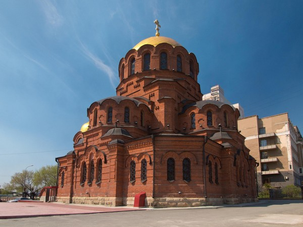 The Alexander Nevsky Cathedral in Novosibirsk