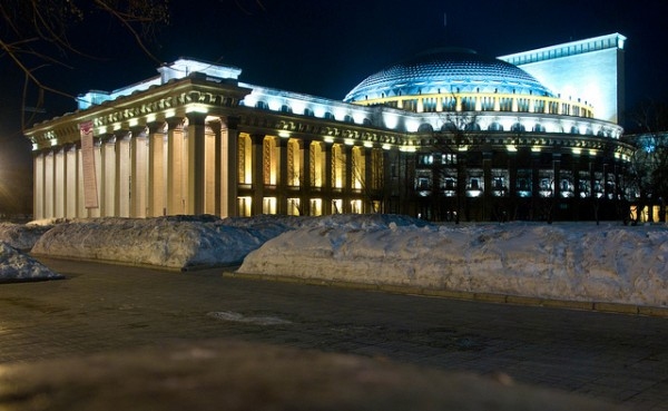 The Opera Theater in Novosibirsk