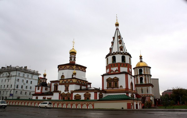 Bogoyavlensky Cathedral in Irkutsk