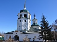 The Znamensky Monastery and the Bogoyavlensky Cathedral in Irkutsk