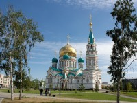Beautiful church in Omsk
