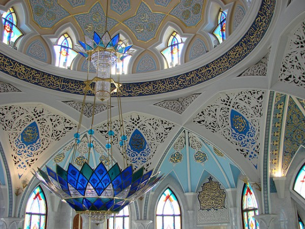 The interior of the Kul Sharif Mosque