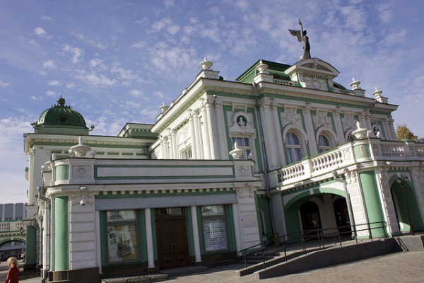 Train station in Omsk