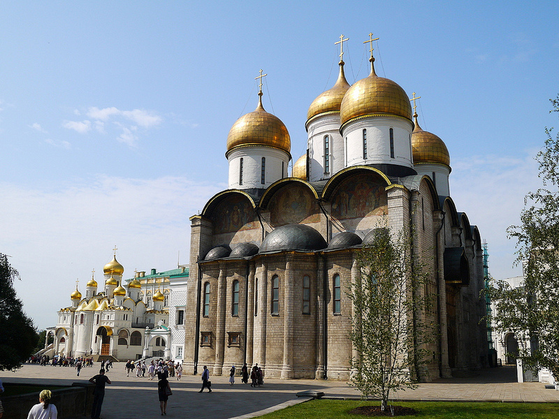 The Church of Assumption in Moscow  Russia Travel Guides