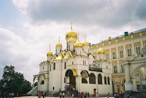 The Annuntiation Cathedral in the Cathedral Square of Kremlin