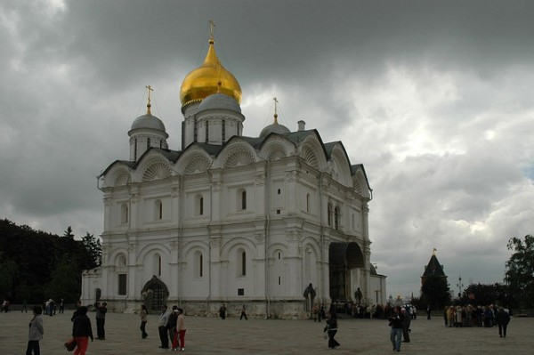 The Cathedral of the Archangel Michael in Moscow Kremlin