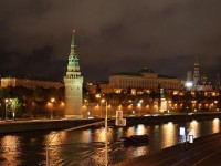 The Kremlin at night
