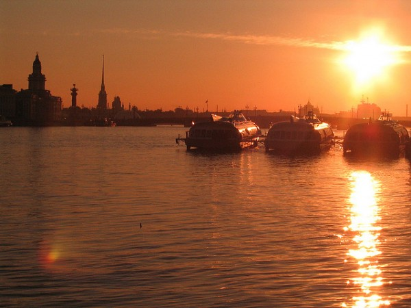 Saint Petersburg at sunset