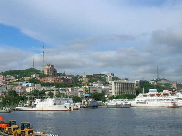 The harbor of Vladivostok