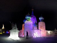Ice sculpture in Novosibirsk
