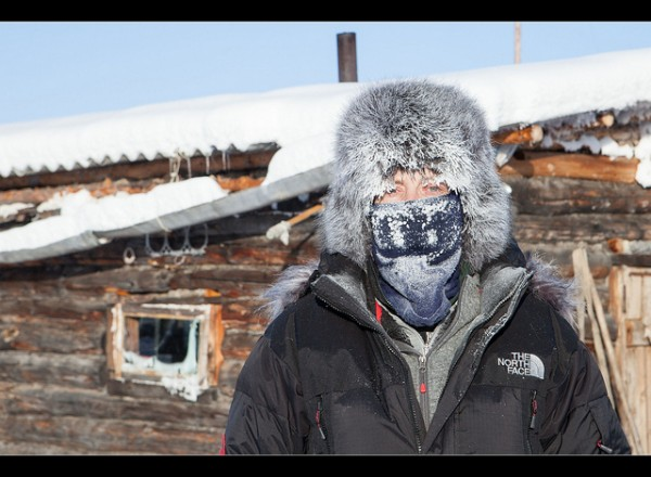 At -55 Celsius degrees in Oymyakon