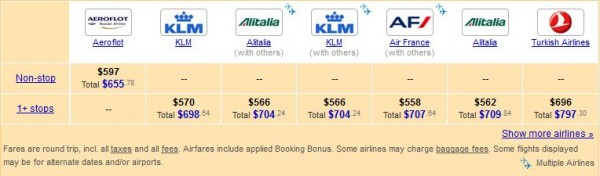 Cheap Moscow flights