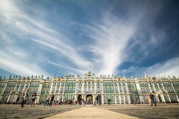 Visiting the majestic Sankt Petersburg